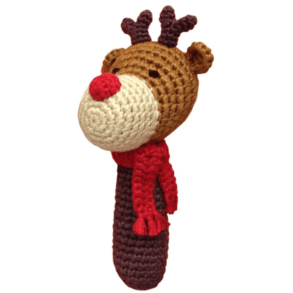 Cheengoo Reindeer Baby Rattle | Eco-friendly & Organic