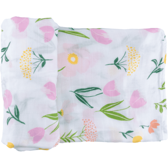 Captain Silly Pants 100% Natural Bamboo Meadow Single Baby Swaddle Wrap