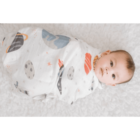 Captain Silly Pants 100% Natural Bamboo Baby Swaddle Set