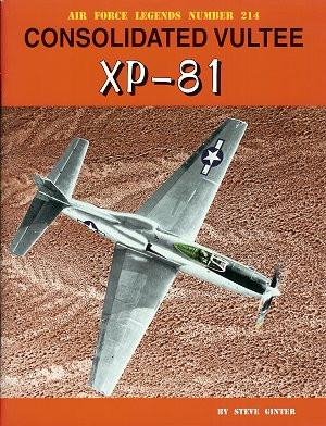 Ginter Air Force Legends: Consolidated Vultee XP81