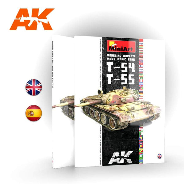 AK Interactive T54/T55 Modeling World's Most Iconic Tank Book
