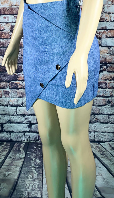 LEAF DENIM SKIRT - Eightyoneighteen