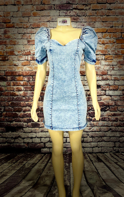 DENIM B DRESS - Eightyoneighteen