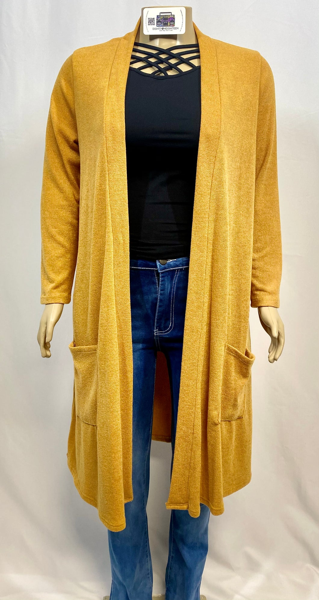 RETRO GOLD CARDIGAN
