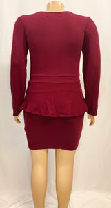 PAULA PEPLUM DRESS