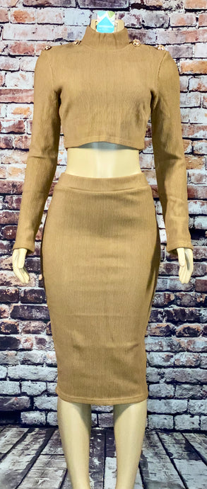 MOCHA MIDI SKIRT SET - Eightyoneighteen
