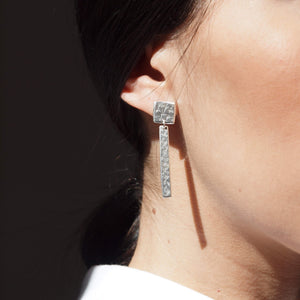 Earrings Itzel Double Rectangle