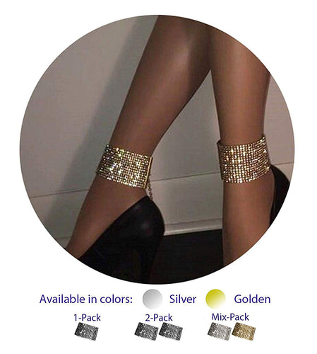 ZeeMoe Fashion Sexy Thick Sparkly Bracelet Anklet