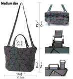 HotOne Geometric Luminous Purses and Handbags Shard Lattice Eco-Friendly Artificial Leather Rainbow Holographic Purse