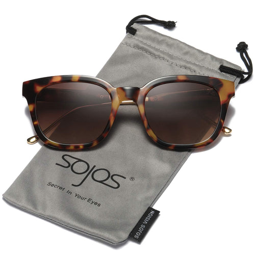 SOJOS Classic Polarized Sunglasses for Women Men Mirrored Lens SJ2050