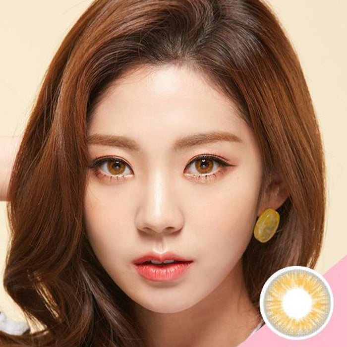 Ice Crystal Lemon Yellow (12 months) contact lens