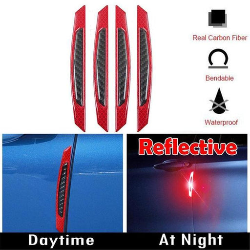 Car Door Reflective & Anti-Scratch Strips-4Pcs