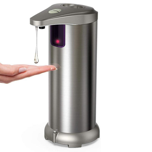 Electric Soap Dispenser, Stainless Steel Touchless Auto Hand Soap Dispenser with Waterproof Base for Bathroom Kitchen Hotel Restaurant