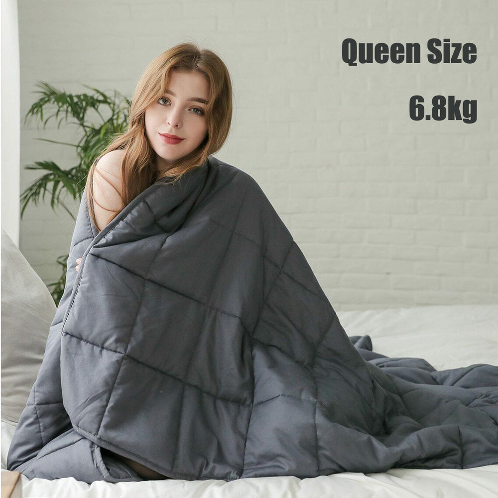 TPDL 6.8kg Weighted Blanket Double Bed Queen Size for Adult Insomnia Autism.