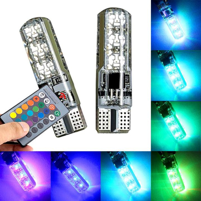 Colorful with remote control flashing wide light waterproof silicone license plate light