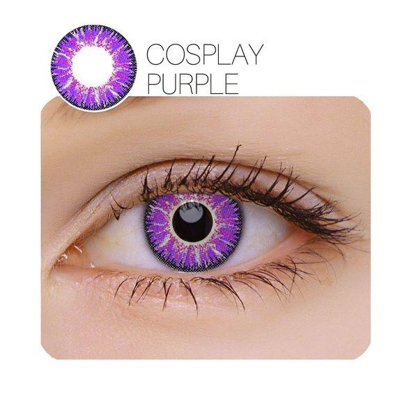 Cosplay purple (12 months) contact lenses