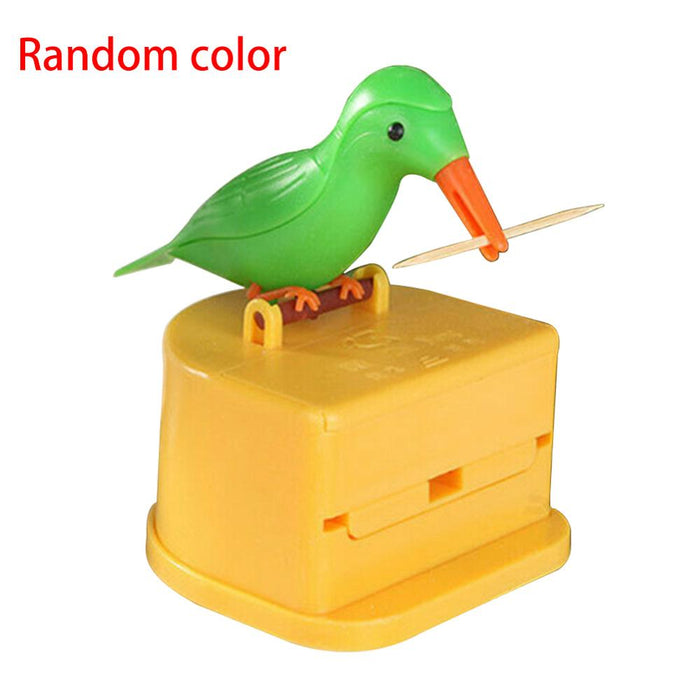 New Cute Hummingbird Toothpick Dispenser Gag Gift Cleaning Teeth High Quality Material Automatic Bird Toothpick Box Hot New