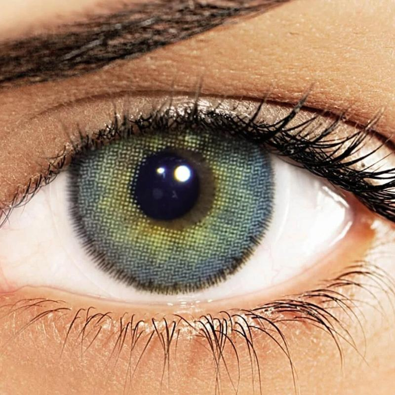 Natural mesh colored green (12 months) contact lenses