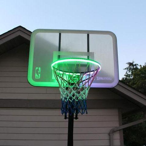 Awesome Basketball Hoop Sensor-Activated LED Strip Light