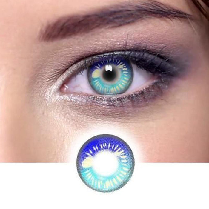 cosplay blue and green color matching (12 months) contact lenses