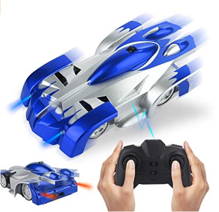 Obbug RC Climb Car for Wall, USB Rechargeable Car with Update Remote Control, 360°Rotating Gravity Defying Stunt for Kids Boy Girl Birthday Gifts