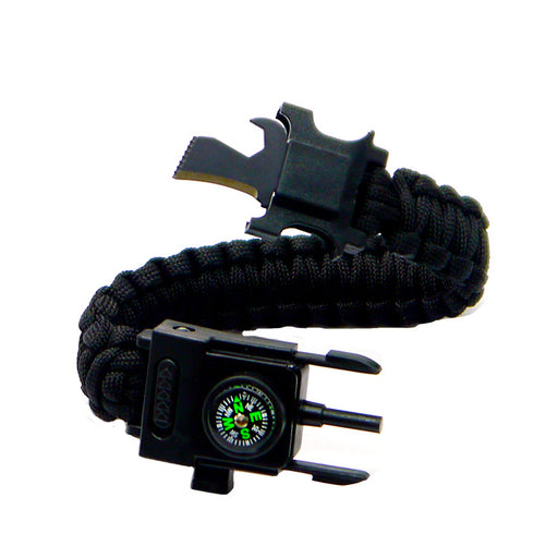 2020 New 20 in 1 braided camping SOS led light compass outdoor survival Emergency Carabiner Cheap paracord bracelets