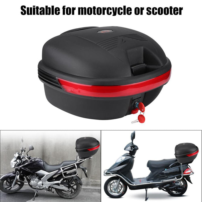 30L Motorcycle Tail Box Scooter Motorbike Rear Luggage Storage Carrier Top Case