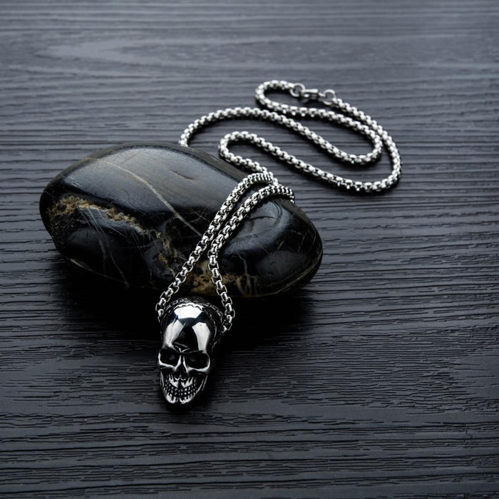Skull Necklaces For Men Person Cranial Personality Ghost Head Pendant Necklace Halloween Accessories Jewelry
