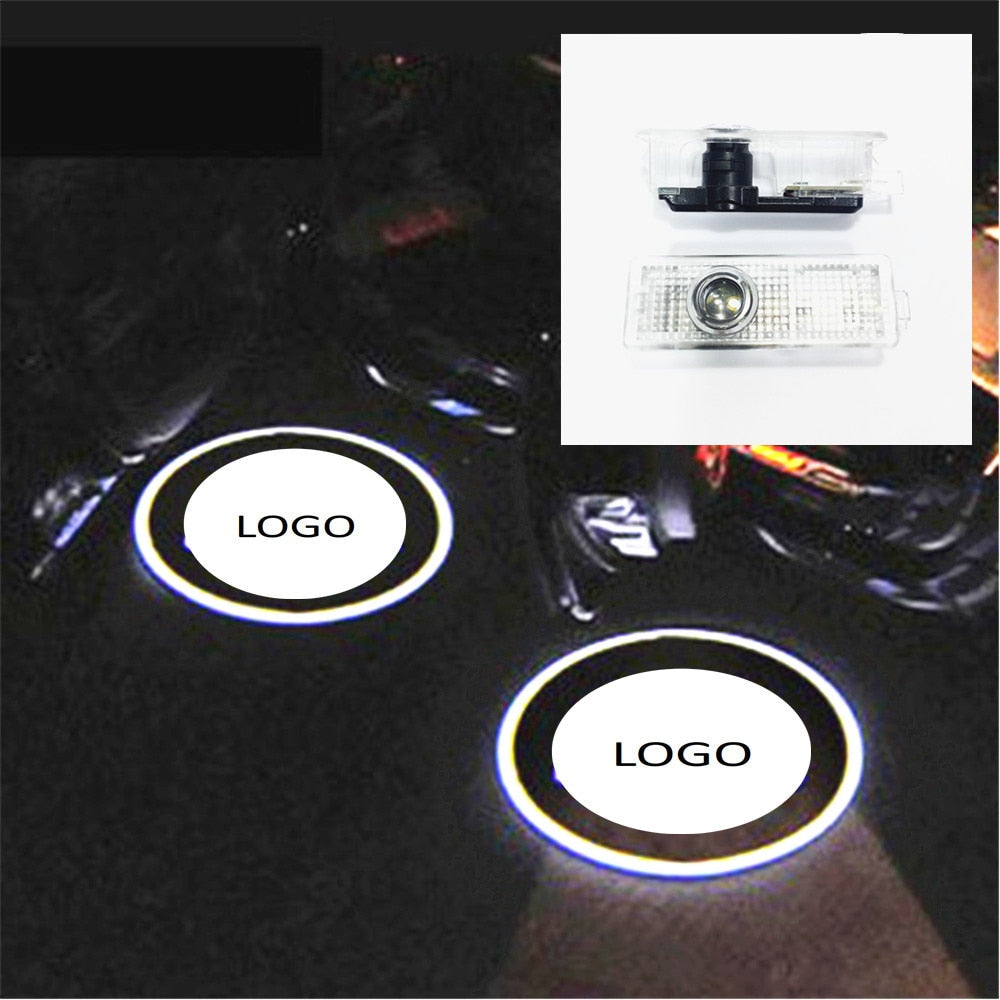 LED Door Courtesy Light with Car Logo Wireless Projector Laser Ghost Shadow For MINI For BMW Plug&Play car accessories styling