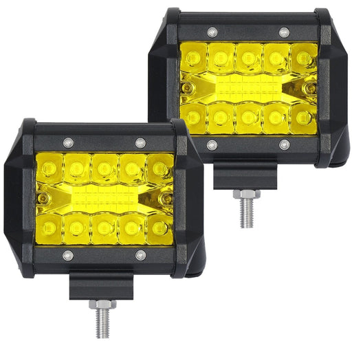 LM 2pcs LED 20W Work Lamp White Yellow 4 Inch Light Bar 24v 12V IP67 Cmobo FOR 4x4 OFF ROAD ATV TRUCK BOAT UTV SPOTLIGHT