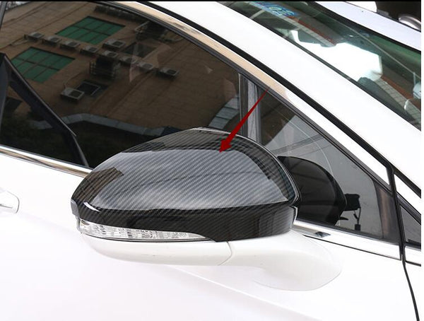 FOR Ford Mondeo For Fusion 2013 -2018 ABS Carbon fibre Print DOOR SIDE-VIEW WING REARVIEW MIRROR COVER TRIM 2PCS