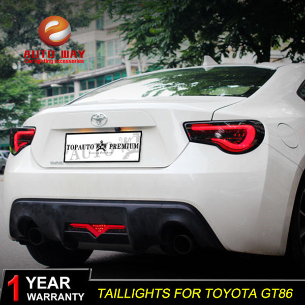Car Styling Tail Lamp case for Toyota GT86 Toyota 86 Toyota86  Tail Lights LED Tail Light Rear Lamp LED taillights