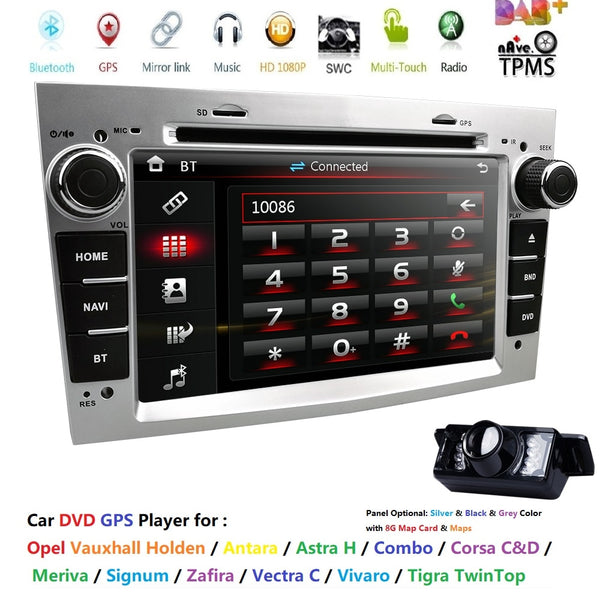 2 DIN DVD GPS for Vauxhall Opel Astra H G J Vectra Antara Zafira Corsa Multimedia screen car radio stereo audio SD SWC RDS FM/AM