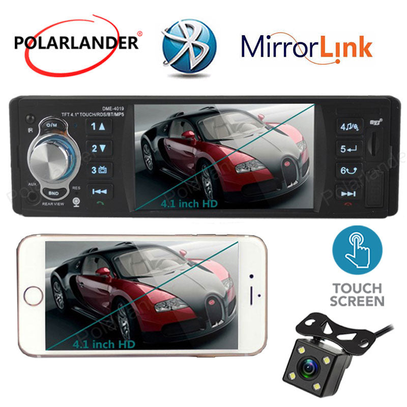 FM Car MP5 Player Touch screen Radio Stereo Bluetooth 1 Din Autoradio Mirror link radio cassette player 4'' inch AUX/USB