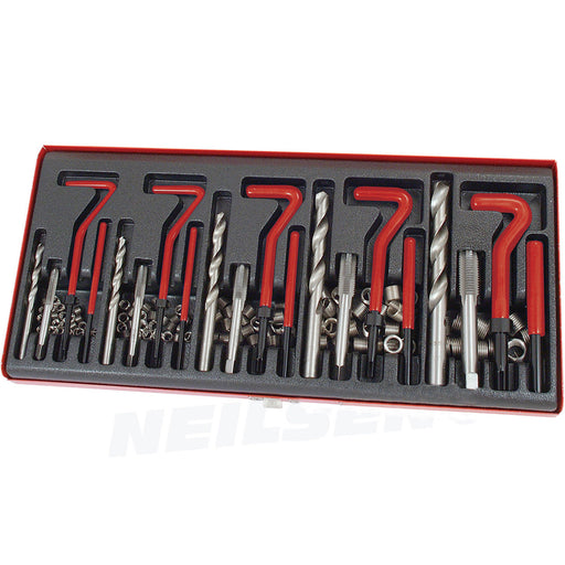131 PIECE HELICOIL TYPE THREAD REPAIR KIT - M5 M6 M8 M10 M12 TWIST DRILL BITS