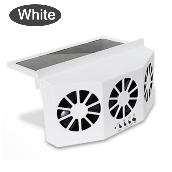 Free Shipping Today - Solar Car Exhaust Heat Exhaust Fan