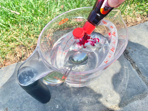 vinegar and red food colouring lava craft