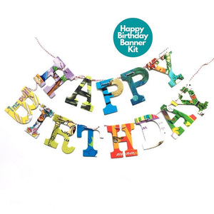 Happy Birthday Children's Book Garland Banner
