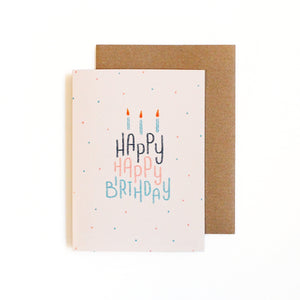 Happy Happy Birthday Card