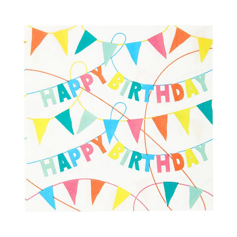 Birthday Brights Happy Birthday Bunting Napkins