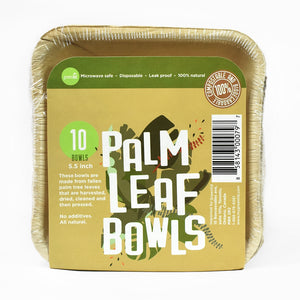 "Palm Leaf Bowls - 5.5"" - Pack of 10"