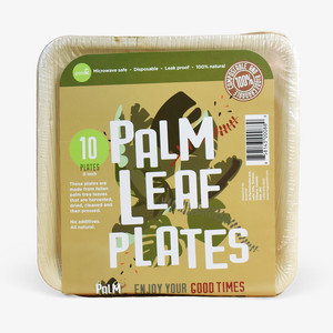 "Palm Leaf Plates - 6"" - Pack of 10"