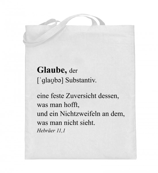 Glaube Definition - Jutebeutel