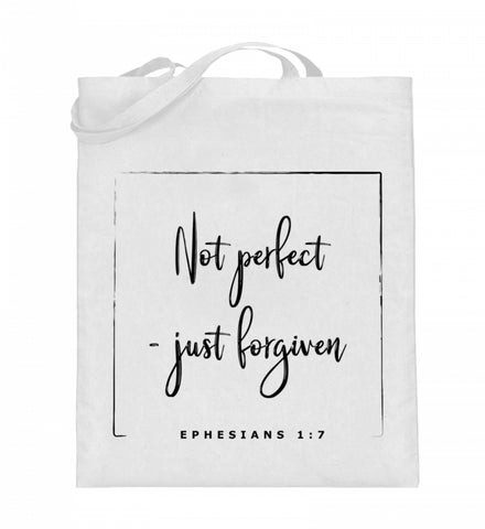 Not perfect - just forgiven - Jutebeutel
