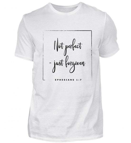 Not perfect - just forgiven - Herren Basic Shirt