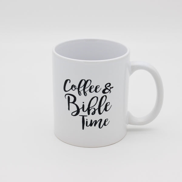 Coffee and Bible Time - Tasse