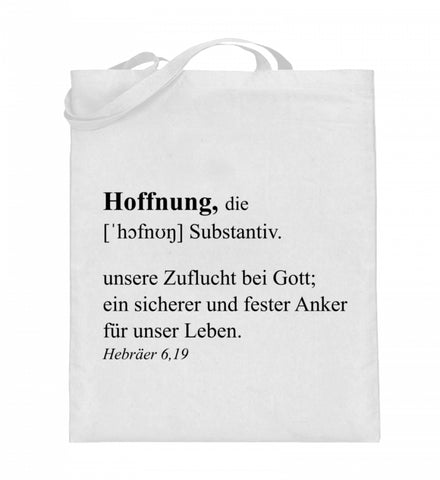 Hoffnung Definition - Jutebeutel