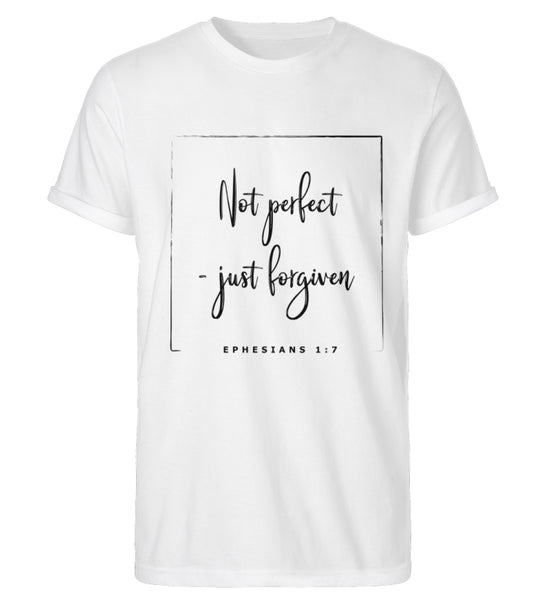 Not perfect - just forgiven - Herren Rollup-Shirt
