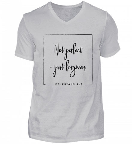 Not perfect - just forgiven - Herren V-Neck Shirt