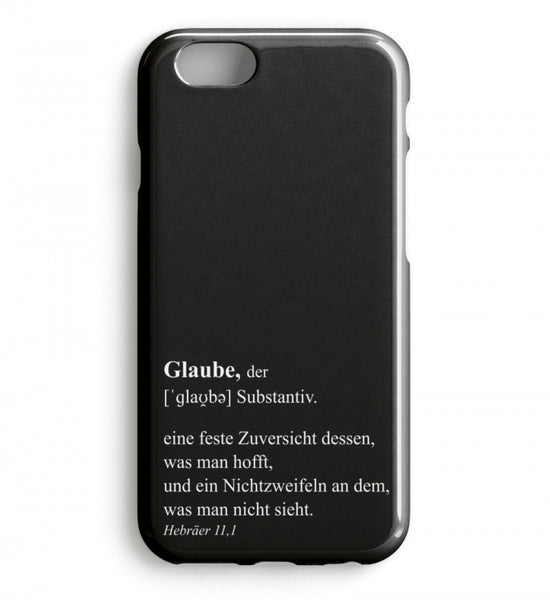 Glaube Definition - iPhone-Hülle